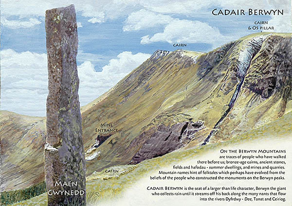 Cadair Berwyn. Painting for a temporary exhibition during Gwyl Berwyn / Berwyn Festival.
